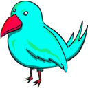 download Bird clipart image with 315 hue color