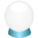 download Crystal Ball clipart image with 315 hue color