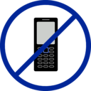 download No Cellphone clipart image with 225 hue color