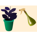 download Caring For Houseplants clipart image with 135 hue color