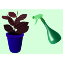 download Caring For Houseplants clipart image with 225 hue color