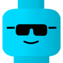 download Lego Smiley Cool clipart image with 135 hue color