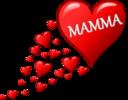 Cuore Per La Festa Della Mamma Con Una Scia Di Cuoricini
