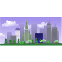 download City Skyline clipart image with 45 hue color