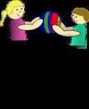 Children Sharing A Ball