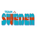 download Team Sweden Fantasy Logotype clipart image with 315 hue color