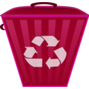 download Recycle Bin clipart image with 225 hue color