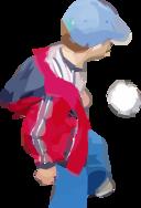 A Boy Plays Soccer