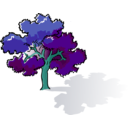 download Colored Oak Tree clipart image with 135 hue color