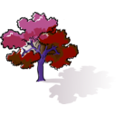 download Colored Oak Tree clipart image with 225 hue color