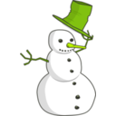 download Hat Tip Snowman clipart image with 45 hue color