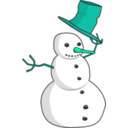 download Hat Tip Snowman clipart image with 135 hue color