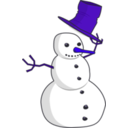 download Hat Tip Snowman clipart image with 225 hue color