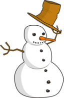 Hat Tip Snowman