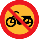 No Mopeds Sign