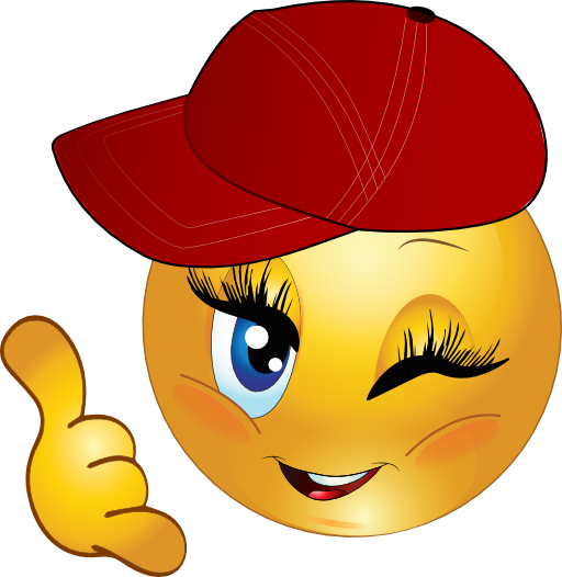 Cool Girl Call Me Smiley Emoticon Clipart I2clipart Royalty Free