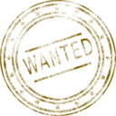 download Wanted clipart image with 45 hue color