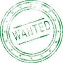 download Wanted clipart image with 135 hue color