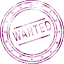 download Wanted clipart image with 315 hue color