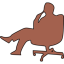 download Man In Chair Thinking clipart image with 135 hue color