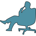download Man In Chair Thinking clipart image with 315 hue color