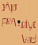Ambigramme Haut Bas Fragile