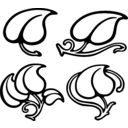 download Leaf Designs clipart image with 225 hue color