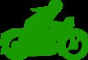 Green Motorbiker