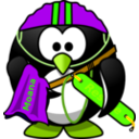 download Life Saver Penguin clipart image with 45 hue color