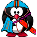 download Life Saver Penguin clipart image with 315 hue color