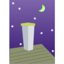 download Night Chimney clipart image with 45 hue color