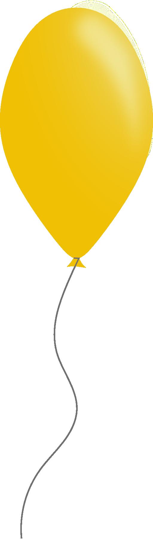 clipart yellow balloons - photo #19