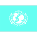 download Flag Of The Unicef clipart image with 315 hue color