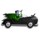 download Little Dracula Driver clipart image with 225 hue color