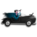 download Little Dracula Driver clipart image with 315 hue color