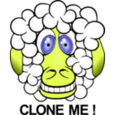 download Funny Sheep clipart image with 45 hue color