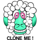 download Funny Sheep clipart image with 135 hue color