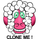 download Funny Sheep clipart image with 315 hue color