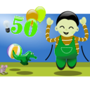 download Happy To Be 50 clipart image with 45 hue color