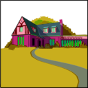 download Architetto Casa In Campagna clipart image with 315 hue color