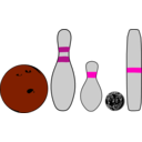 download Bowling Pins And Balls clipart image with 315 hue color