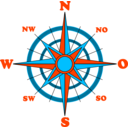 download Compass Rose clipart image with 135 hue color