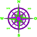 download Compass Rose clipart image with 225 hue color