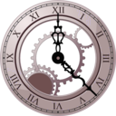 download Roman Clock clipart image with 135 hue color