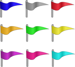 Game Marbles Flags