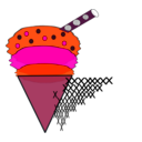 download Ice Cream clipart image with 315 hue color