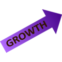 download Growth Chart clipart image with 135 hue color
