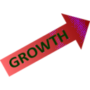 download Growth Chart clipart image with 225 hue color