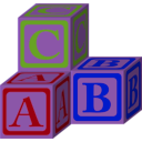 download Abc Blocks Petri Lummema 01 clipart image with 225 hue color
