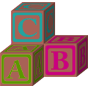 download Abc Blocks Petri Lummema 01 clipart image with 315 hue color